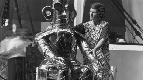 The robot could read fluently in any language, and was on display at the Radio Exhibition in Olympia, London. Alpha was invented by scientist Harry May for the Mullard Valve Company.