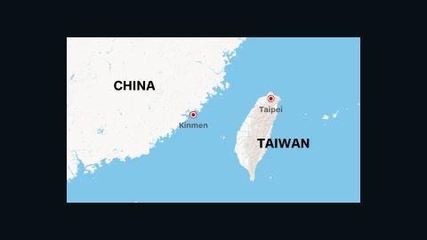 Kinmen is a small island under Taiwan's jurisdiction near mainland China.