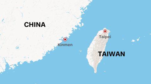 Kinmen is a small island under Taiwan jurisdiction near mainland China.