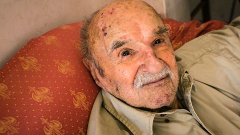 """Konstantinos Spanos, 103, lives in Ikaria, a Greek island with a reputation for long-lived residents. Sponos said the key to his long life is modesty in everything, including """"food, women and entertainment,"""" although he might also want to add reading. He reads five hours a day."""