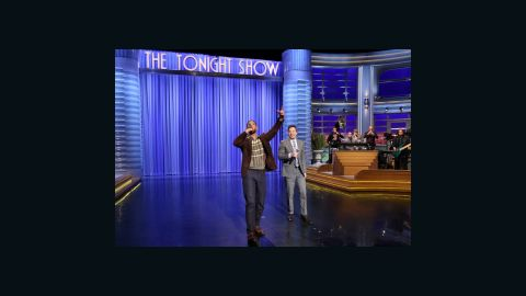 """Actor Will Smith and host Jimmy Fallon rap on """"The Tonight Show"""" on Thursday."""