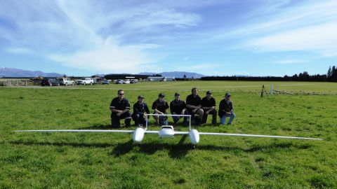 Coastguard New Zealand designed a drone to detect and aid people adrift at sea. Operating independently for long periods of time, the drone flies in search patterns in advance of coastguard vehicles, identifying v