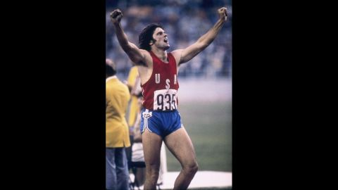 Jenner, formerly Bruce, celebrates a record-setting decathlon performance at the 1976 Summer Olympics in Montreal. The victory made Jenner an instant sensation.