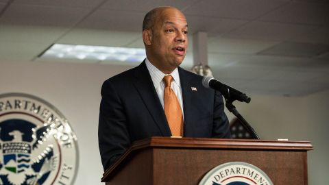 Secretary of Homeland Security Jeh Johnson at a naturalization ceremony on April 2, 2014, in New York City.