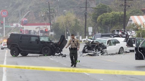 Former Olympic decathlon champion and reality TV star Bruce Jenner was involved in a fatal four-car accident on Saturday, the Los Angeles County Sheriff's Department said in a statement. Jenner was not injured.