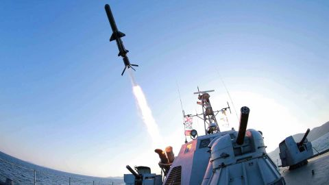 """North Korea test-fired a new <a href=""""http://www.cnn.com/2015/02/09/asia/north-korea-missiles/"""">""""ultra-precision"""" intelligent rocket</a> to be deployed across its navy, the state-run Korean Central News Agency said on February 7, 2015."""