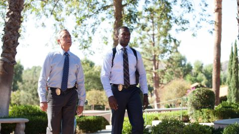 """Titus Welliver, left, and Jamie Hector are LAPD officers Harry Bosch and Jerry Edgar in """"Bosch."""""""