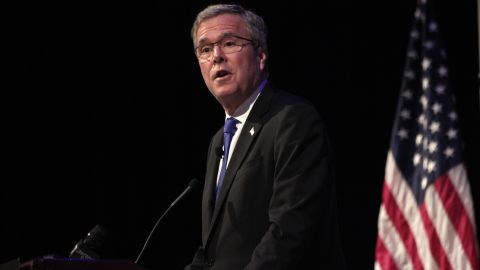 Former Florida Gov. Jeb Bush shied away from talking about Common Core when speaking about education on Tuesday in Florida.