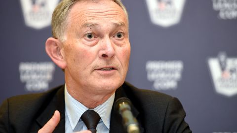 English Premier League chief executive Richard Scudamore announces the details of the new domestic TV rights package,