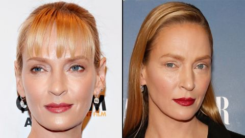 """Actress Uma Thurman had some doing double-takes at the premiere for """"The Slap"""" in February 2015. The actress, 44, plays a TV writer in the U.S. update of the Australian show."""