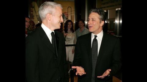 In 2005, Stewart (pictured with CNN's Anderson Cooper) was included on Time magazine's list of the Time 100: The Most Influential People In The World.