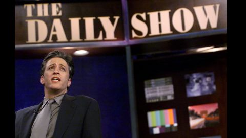 """For more than 15 years, Stewart made """"The Daily Show"""" must-see TV by injecting humor and witty criticism into his coverage of current events."""