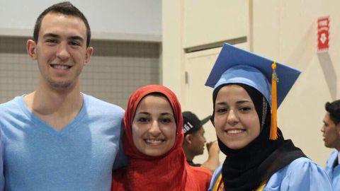 Deah Shaddy Barakat; his wife, Yusor Mohammad; and her sister, Razan Mohammad Abu-Salha
