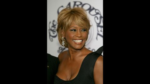 Houston arrives at a Beverly Hills hotel for a charity function in October 2006.