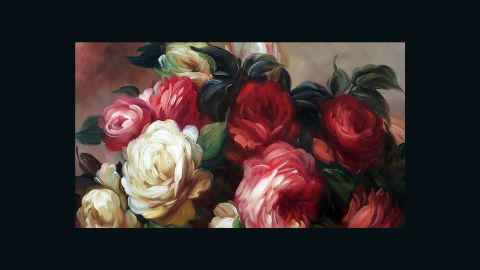 Renoir was known for his approach towards depictions of feminine beauty, and this is clearly seen in his sensual painting of discarded roses.