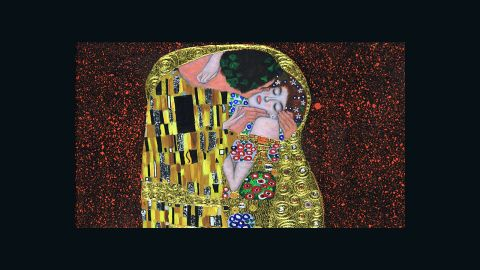 """This painting is notable for its heavy use of gold foil. It was produced at the apex of Klimt's """"golden period""""."""