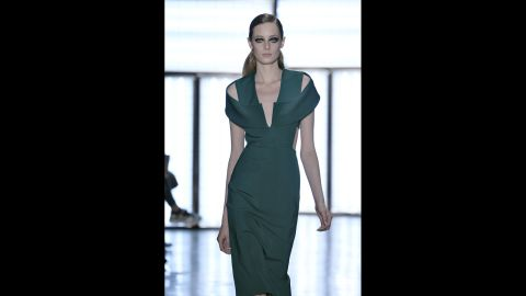 Cushnie Et Ochs kept it sexy and sophisticated with looks like this bodycon gown with well-placed cut-outs.