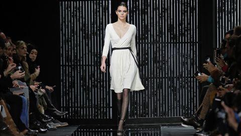 "<a href=""http://www.cnn.com/2014/09/11/living/kendall-jenner-model-nyfw/"">Kendall Jenner</a> walks the runway in an iconic Diane von Furstenberg wrap dress."