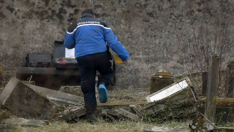This marks the third time since 1988 that the cemetery has been targeted, according to Agence France-Presse.