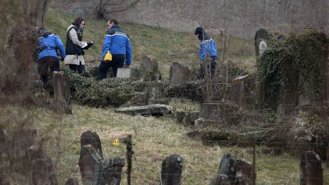 """Philippe Richert, president of the Alsace region, told AFP why he felt the damage was the certain work of vandals: """"One doesn't knock over heavy steles like that dating from the 19th century very easily. It was a deliberate act of destruction."""""""
