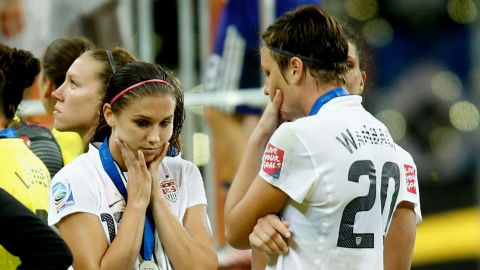 The U.S. team's emphatic 5-2 defeat of Japan in the World Cup final was payback for Japan's defeat of Morgan and her teammates in the 2011 tournament. The Americans lost on penalties in a nail-biting final.
