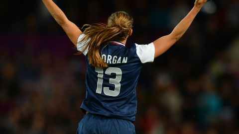 """Throughout her career, Morgan has played with the No. 13 on her back. Far from finding it unlucky, she admits to being amused by the superstition that surrounds it. """"I've never seen any unluckiness in this number and it's done great things for me,"""" she insisted."""