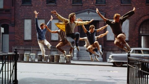 """<strong>""""West Side Story"""" (1962):</strong> """"West Side Story"""" used the streets of New York as backdrops for this musical version of """"Romeo and Juliet."""" The Jets and Sharks replaced the Montagues and Capulets as rival gangs ready to rumble, leading to tragedy for young lovers Tony (Richard Beymer) and Maria (Natalie Wood). The film took home 10 Oscars, including best supporting actor (George Chakiris), supporting actress (Rita Moreno) and direction (Robert Wise and Jerome Robbins, the first time the award was shared)."""