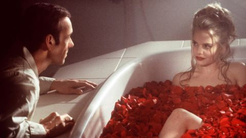 """<strong>""""American Beauty"""" (2000):</strong> Kevin Spacey stars as a frustrated middle manager who develops a crush on one of his daughter's friends (Mena Suvari) in """"American Beauty."""" Besides the big prize, the film won best director for Sam Mendes and best actor for Spacey as part of its five Oscars. Also immortalized: a plastic bag blowing in the breeze."""