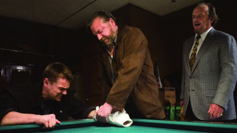 """<strong>""""The Departed"""" (2007):</strong> Director Martin Scorsese's films were often well-reviewed but couldn't win the big prize, until """"The Departed,"""" about a Boston gangster and some corrupt cops. The film stars Leonardo DiCaprio, left, Ray Winstone, and Jack Nicholson, right."""