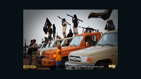 ISIS Barqa branch [or Barqa state as they like to call it] released still images shows their forces parading in the city of An Nawfaliya near Sirte, Libya.