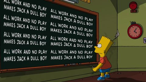 """Bart Simpson is just one of the characters on """"The Simpsons"""" who are left-handed. Among them, according to the Simpsons Wiki: Bart Simpson, Seymour Skinner, Ned Flanders, Moe Szyslak and Marge Simpson. Why? Perhaps because Simpson creator Matt Groening is a leftie, too."""