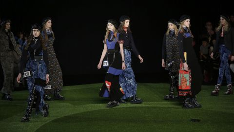 """Luella Bartley and Katie Hillier crossed social activism with fashion for Marc by Marc Jacobs. Many of the looks included printed phrases like """"suffragette"""" and """"our choice."""""""