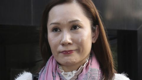 Erwiana's former employer, Law Wan-tung, seen leaving court on December 8, 2014.