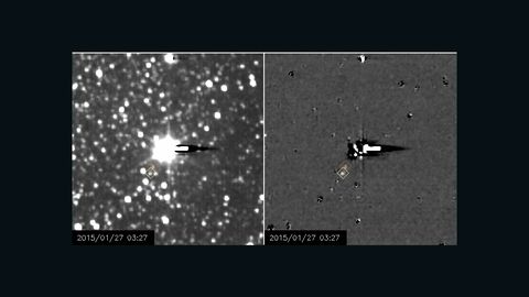 New Horizons satellite sends new images of Pluto's moons Nix and Hydra.