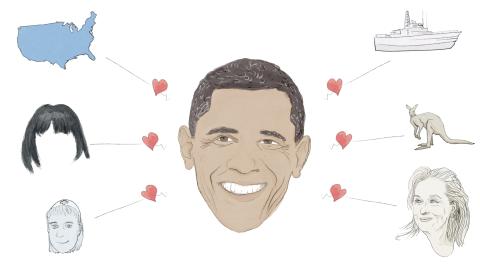 President Obama has a soft spot for nurses, Australia and Meryl Streep