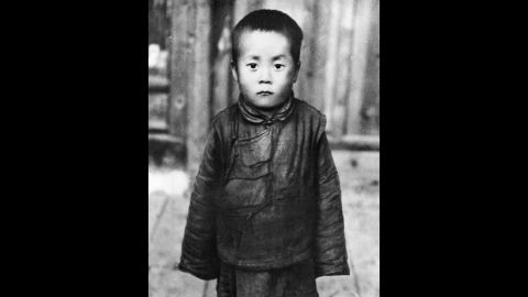 The Dalai Lama is seen here as a child. He was born Lhamo Dhondrub on July 6, 1935, in the small village of Taktser in northeastern Tibet.