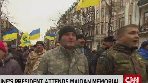 pleitgen pkg kiev marks one year since yanukovych ouster_00001622.jpg