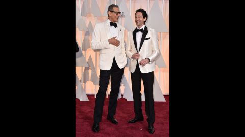 Jeff Goldblum, left, and Adrien Brody