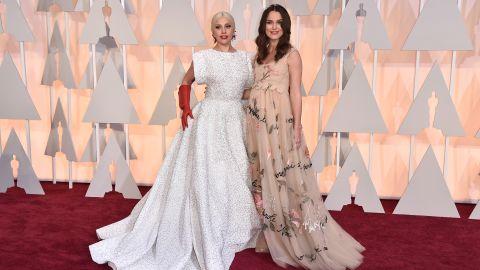 Lady Gaga, left, and Keira Knightley