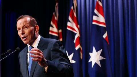 Australian Prime Minister Tony Abbott announces changes to anti-terror laws based on recommendations of a counter-terrorism review on 23 February, 2015.