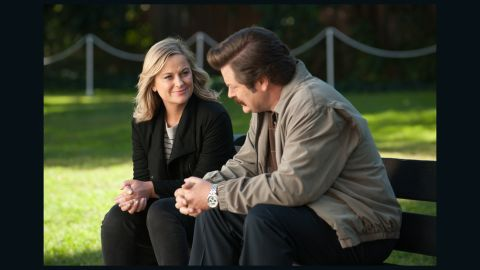 """Fans called the series finale of """"Parks and Recreation"""" -- filled with flash-forwards -- a home run."""