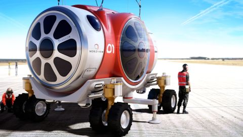 """""""Our capsule is fitted with state-of-the-art space-rated life support systems,"""" says Poynter, of the World View system."""
