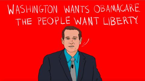 Texas Sen. Ted Cruz said career politicians are a bigger problem for the GOP than Democrats.