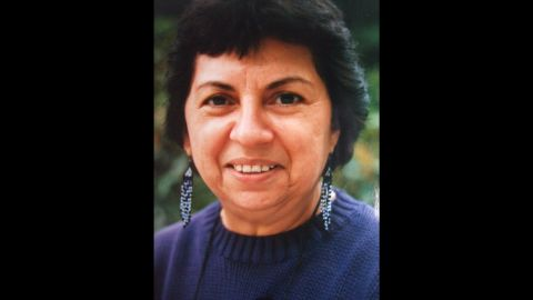 """Feminist activist and theorist <a href=""""http://library.ucsc.edu/exhibits/gloria-e-anzald%C3%BAa-memorial-altares-exhibit"""" target=""""_blank"""" target=""""_blank"""">Gloria Anzaldua</a> (1942-2004) was known for writings and teachings related to the Chicana movement and lesbian/queer theory. Among her writings, written in a mix of English and Spanish, is the autobiographical narrative """"Borderlands: The New Mestiza."""" She was a lecturer in women's studies at the University of California, Santa Cruz, where a collection of altar objects she used in her creative process is on display at the McHenry Library. The library appears in the app."""