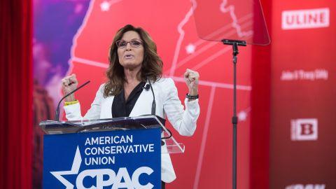 Sarah Palin speaks on Thursday at CPAC.