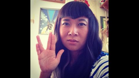 """<a href=""""https://instagram.com/p/znW8zLD3cl/?modal=true"""" target=""""_blank"""" target=""""_blank"""">Gwynne Siak</a> from Seattle shares what she takes from Nimoy's legacy: """"critical thinking, compassion, and on fleek eyebrow and hair game."""""""