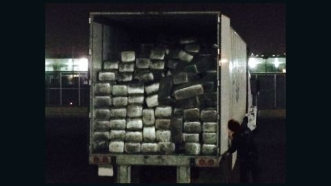 The truck carrying the weed crossed into California from Mexico at Otay Mesa.