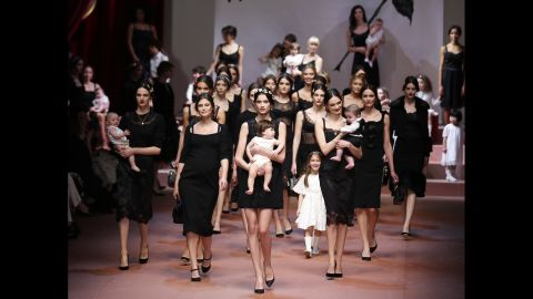 """It was all about """"mamma"""" at the Dolce & Gabbana show in Milan, Italy, on Sunday, March 1."""