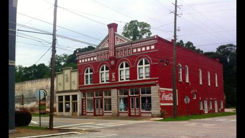 """The tiny downtown of sleepy Grantville, Georgia, featured on the hit AMC show """"The Walking Dead,"""" is for sale on eBay."""