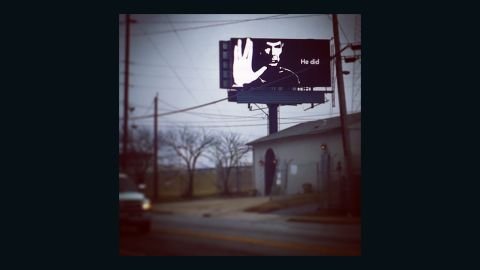 """Fans have been sharing touching """"live long and prosper"""" tributes since legendary 'Star Trek"""" actor Leonard Nimoy passed away in February 2015. This billboard is one of several that showed up in Atlanta. Jen Rafanan spotted this one on the west side of town. """"It is a beautiful, simple, and inspiring tribute to a man who was all those things."""" The billboard company later <a href=""""http://ireport.cnn.com/docs/DOC-1221053"""">released a statement </a>saying they wished to pay tribute to Nimoy and placed 15 such images around Atlanta."""